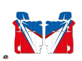 Graphic Kit Radiator guards Stage Honda 250 CRF 2014-2016 Blue Red