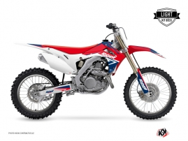 Kit Déco Moto Cross Stage Honda 250 CRF Bleu Rouge LIGHT