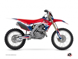 Kit Déco Moto Cross Stage Honda 250 CRF Bleu Rouge