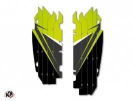 Kit Déco Grilles de radiateur Stage Kawasaki 250 KXF 2013-2016 Vert