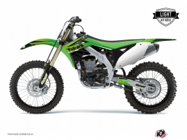 Kit Déco Moto Cross Stage Kawasaki 250 KXF Vert LIGHT