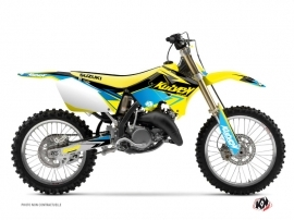 Kit Déco Moto Cross Stage Suzuki 250 RM Jaune Bleu