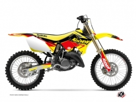 Kit Déco Moto Cross Stage Suzuki 250 RM Jaune Rouge