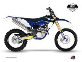 Kit Déco Moto Cross Stage Sherco 250 SEF-R Blanc - Jaune LIGHT