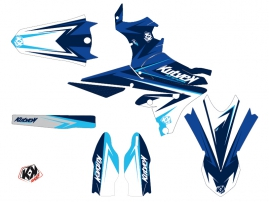 Kit Déco Moto Cross Stage Yamaha 250 YZF Bleu LIGHT