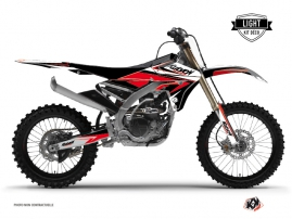 Kit Déco Moto Cross Stage Yamaha 250 YZF Noir - Rouge LIGHT