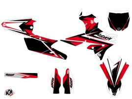 Yamaha 250 YZF Dirt Bike Stage Graphic Kit Black Red