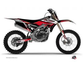Kit Déco Moto Cross Stage Yamaha 250 YZF Noir - Rouge