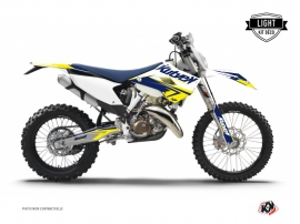 Kit Déco Moto Cross Stage Husqvarna 300 TE Blanc Jaune LIGHT