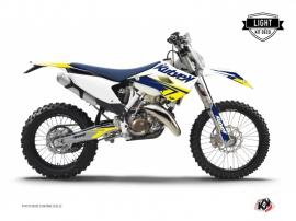 Kit Déco Moto Cross Stage Husqvarna 300 TE Blanc Jaune LIGHT