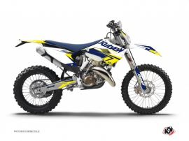 Husqvarna 350 FE Dirt Bike Stage Graphic Kit White Yellow