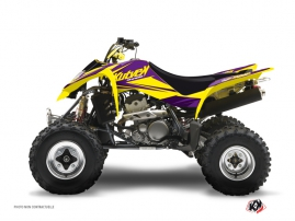 Suzuki 400 LTZ ATV Stage Graphic Kit Yellow Purple