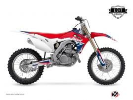 Kit Déco Moto Cross Stage Honda 450 CRF Bleu Rouge LIGHT