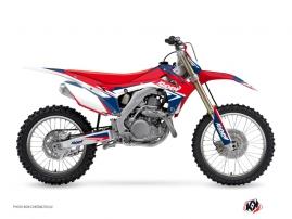 Kit Déco Moto Cross Stage Honda 450 CRF Bleu Rouge