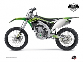Kit Déco Moto Cross Stage Kawasaki 450 KXF Vert LIGHT