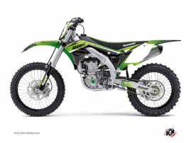 Kit Déco Moto Cross Stage Kawasaki 450 KXF Vert