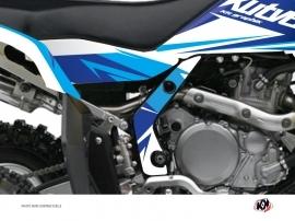 Kit Déco Protection de cadre Quad Stage Suzuki 450 LTR Bleu