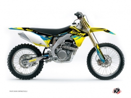 Kit Déco Moto Cross Stage Suzuki 450 RMZ Jaune Bleu