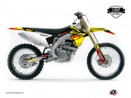 Kit Déco Moto Cross Stage Suzuki 450 RMZ Jaune Rouge LIGHT