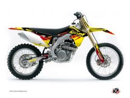 Kit Déco Moto Cross STAGE Suzuki 450 RMZ Jaune Rouge
