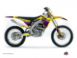 Suzuki 450 RMZ Dirt Bike Stage Graphic Kit Yellow Purple
