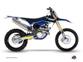Kit Déco Moto Cross Stage Sherco 450 SEF R Blanc Jaune