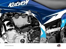 Kit Déco Protection de cadre Quad Stage Yamaha 450 YFZ-R 2014-2016 Bleu