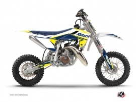 Kit Déco Moto Cross Stage Husqvarna TC 50 Blanc Jaune
