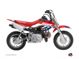Kit Déco Moto Cross Stage Honda 50 CRF Bleu - Rouge