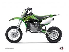 Kit Déco Moto Cross Stage Kawasaki 65 KX Vert