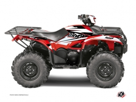 Yamaha 700-708 Kodiak ATV Stage Graphic Kit Black Red