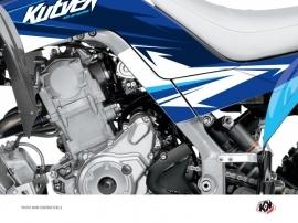 Kit Déco Protection de cadre Quad Stage Yamaha 700 Raptor 2013-2016 Bleu