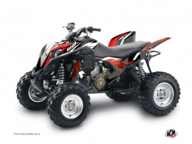 Honda 700 TRX ATV Stage Graphic Kit Black Red