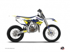 Kit Déco Moto Cross STAGE Husqvarna TC 85 Blanc Jaune