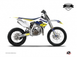 Kit Déco Moto Cross Stage Husqvarna TC 85 Blanc Jaune LIGHT