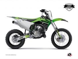 Kit Déco Moto Cross Stage Kawasaki 85 KX Vert LIGHT