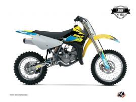 Kit Déco Moto Cross Stage Suzuki 85 RM Jaune Bleu LIGHT