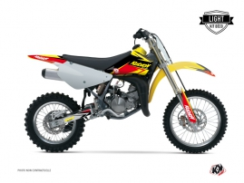 Kit Déco Moto Cross Stage Suzuki 85 RM Jaune - Rouge LIGHT