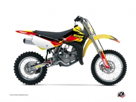 Kit Déco Moto Cross Stage Suzuki 85 RM Jaune - Rouge