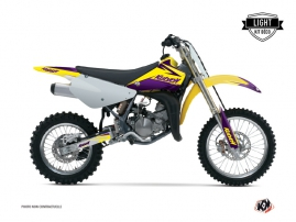 Suzuki 85 RM Dirt Bike Stage Graphic Kit Yellow Purple LIGHT