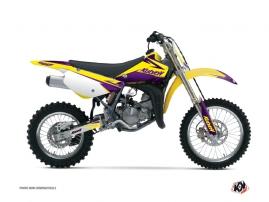Kit Déco Moto Cross Stage Suzuki 85 RM Jaune - Violet