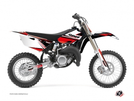 Yamaha 85 YZ Dirt Bike Stage Graphic Kit Black Red