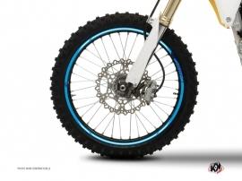 Kit Déco Tour de jantes Moto Cross Stage Bleu