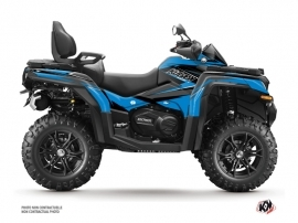 CF MOTO CFORCE 850 XC ATV Stage Graphic Kit Blue Black