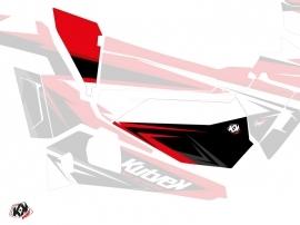 Kit Déco Portes Basses Dragonfire Stage SSV Polaris RZR 900S/1000/Turbo 2015-2017 Noir Rouge