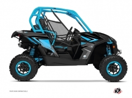 Can Am Maverick UTV Stage Graphic Kit Blue Grey