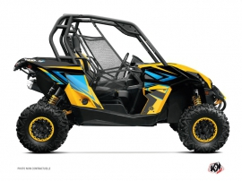Can Am Maverick UTV Stage Graphic Kit Yellow Blue