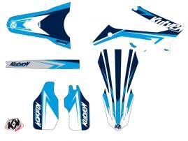 Kit Déco Moto Cross Stage TM MX 125 Bleu LIGHT