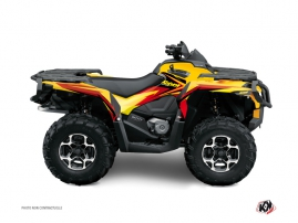 Can Am Outlander 1000 ATV Stage Graphic Kit Yellow Red