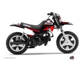 Kit Déco Moto Cross STAGE Yamaha PW 80 Noir Rouge